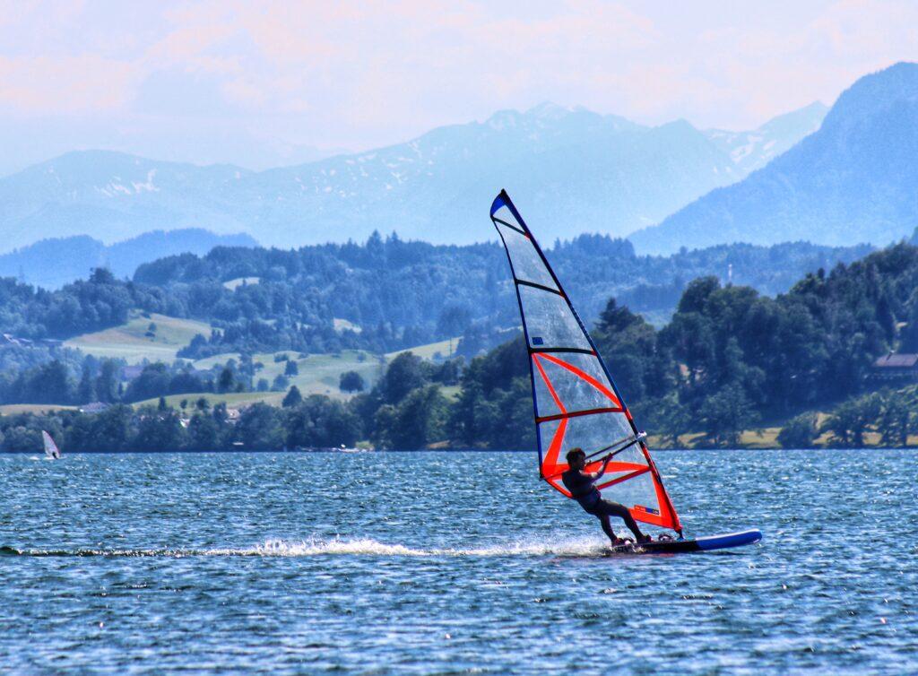 Windsurfing Lake Zug